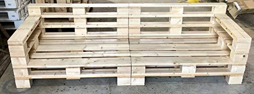 Palettenmöbel ~ großes Lounge Sofa aus gehobelten Vollholz Möbelpaletten ~ Palettensofa