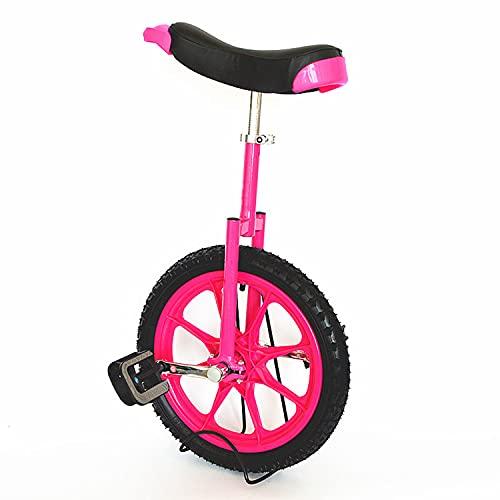 16 Pulgadas Monociclo Entrenador - Altura Ajustable Kids 'Monociclo - Una Rueda Monociclos Acero Con Marco Ajustable - Mountain Tire Balance Ciclismo Ejercicio Bicicletas para Jóvenes, Adultos