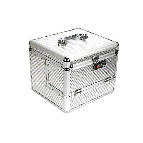 YUTRD ZCJUX Professional Aluminum Makeup Artist Train Case Large Cosmetic Box Jewelry Storage Organizer Case With Lockable Keys