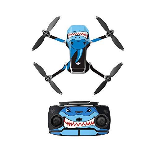 Linguhang Drone Decal Adesivo Decalcomanie Pelle Antigraffio Impermeabile Chic Motivo per DJI Mavic Mini Drone e Telecomando Impermeabile PVC (Tipo 4)
