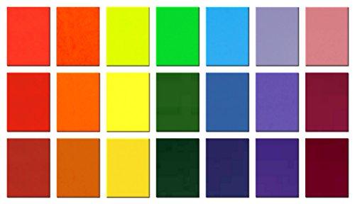 dakamilech 20 Stück Wachsplatten zum Basteln und Kerzen verzieren, Verzierwachs Set (Rainbow)