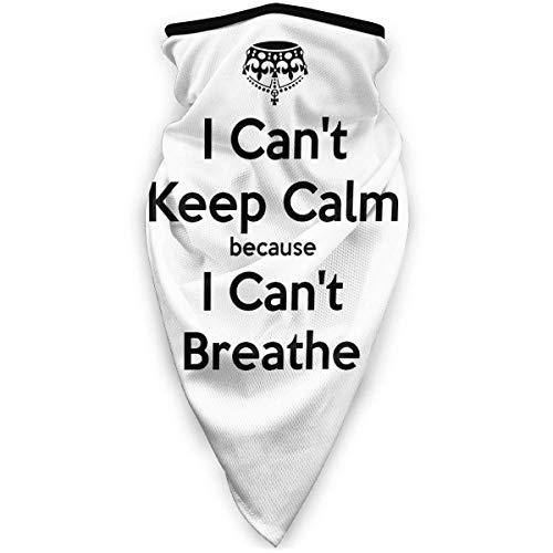 ENZOOIHUI Can-T-Keep-Calm-Because-I-Can-T-Breathe Bandana de Moda a Prueba de Sol Sombrero a Prueba de Viento para Pescar Negro
