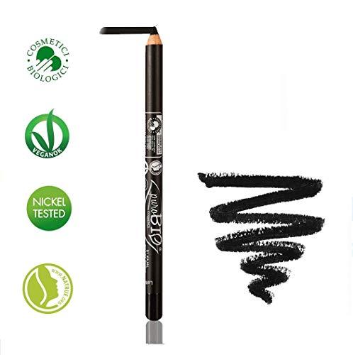 PUROBIO - Crayon Khol Eye Liner - Noir - Vegan, Certifié Bio, Nickel Tested, Fabrique in Italie