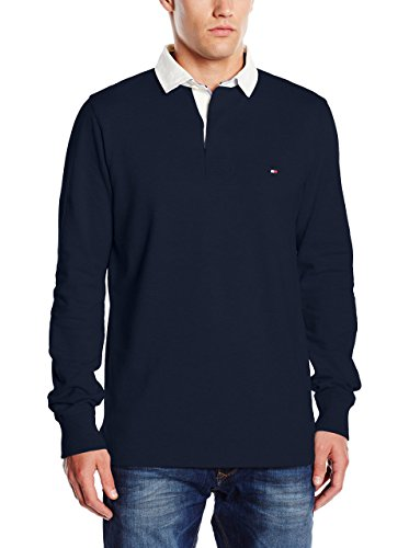 Tommy Hilfiger Austin Rugby L/S VF Polo, Bleu (Navy Blazer/Pt), (Taille Fabricant: Small) Homme