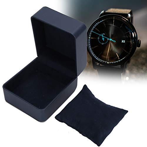 Caja de almacenamiento de reloj, Caja de almacenamiento de reloj de cuero de PU, Exhibidor de joyería, Caja de regalo con contenedor de caja de joyería pequeña con almohada suave para pulsera(#2)