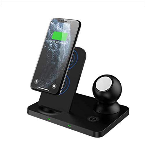 ALLWIN 3 En 1 Cargador Inalámbrico, 2021 New Qi Pad De Carga Rápida para iPhone 12/12 Pro / 12 Pro MAX / 11/11 Pro / 11 Pro MAX/XS/XR/X / 8 Plus