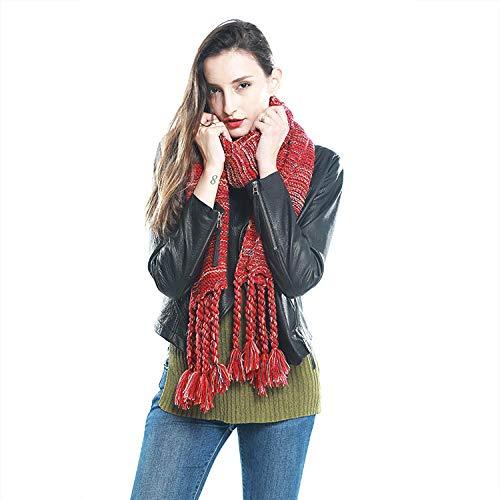 TaoRan gebreide damesjaal handgemaakte dikke wol grote sjaal nationale wind breien slab warm verdikken