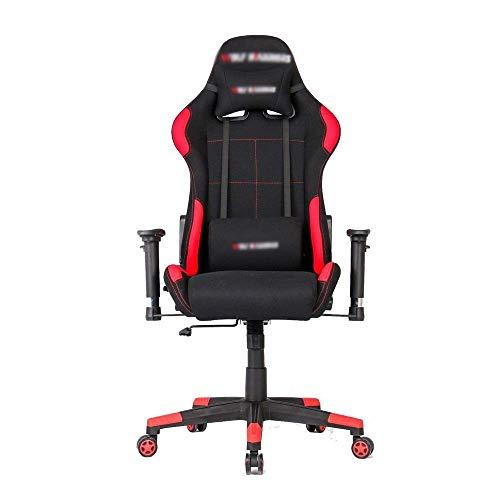 Silla de escritorio para gaming, ajustable, ergonómica, para juegos o para el hogar (color: imagen color, tamaño: 70 x 70 x 125 cm) xiao1230