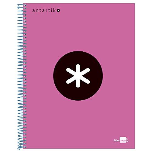 liderpapel 74586 Series Antartik - Cuaderno de espiral (A4, papel rosa