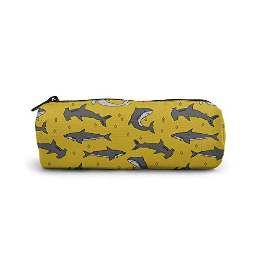 Shark Yellow Grey Cosmetic Bag Small Travel Storage Makeup Bags Purse