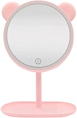 Buy Cheap Charging Flip Up Creative Makeup Mirror Light Led Lights Desktop Magnification Lens Princess Lamp Desktop Mirror Light Soft And Antislippery Lights & Lighting