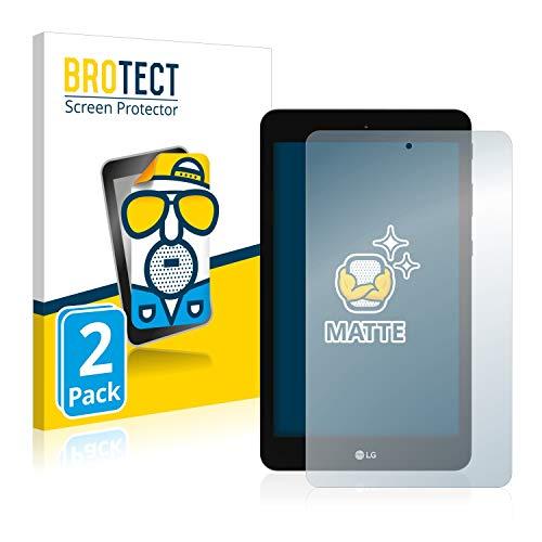 BROTECT 2X Entspiegelungs-Schutzfolie kompatibel mit LG G Pad 8.0 Bildschirmschutz-Folie Matt, Anti-Reflex, Anti-Fingerprint