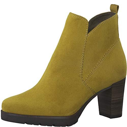 Tamaris Damen Stiefeletten, Frauen Ankle Boots, geschäftlich büro Stiefel halbstiefel Bootie knöchelhoch reißverschluss,Mustard,37 EU / 4 UK