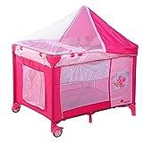 Cunas Para Bebes Completas, Cuna De Viaje Desde El Nacimiento Hasta 30 Kg, Parque Infantil Con Entrada Lateral Camas Para Niños Pequeños Plegables Camas Para Bebés Multifuncionales (nacimi(Color:Rosa)