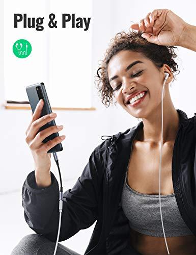UGREEN USB C Kopfhörer Adapter Typ C auf 3.5mm Klinke Adapter USB C zu Aux kompatibel mit Galaxy S20 S20+ S20 FE Note10 Huawei P30 Pro P20 P20 Pro, Pixel 4/3, iPad Pro, OnePlus 8/7,Mi 10/8 (Schwarz)