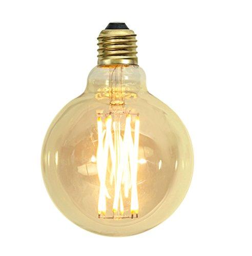 Glühlampe Retro Lampe Filament rund E27 Nostalgie Glühbirne antikgelb (klein)