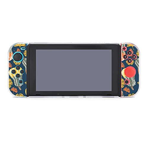 Hülle für Nintendo Switch A Squash Gemüse und Gingko Leaf Fünfteiliges Set Schutzhülle Case Kompatibel mit Nintendo Switch Spielekonsole