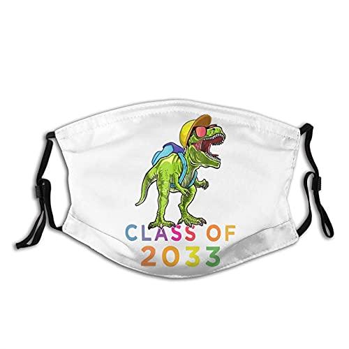 Hirola Class Of 2033 - Funda para cara de dinosaurio, reutilizable, lavable, ajustable, cómoda, color negro, talla única