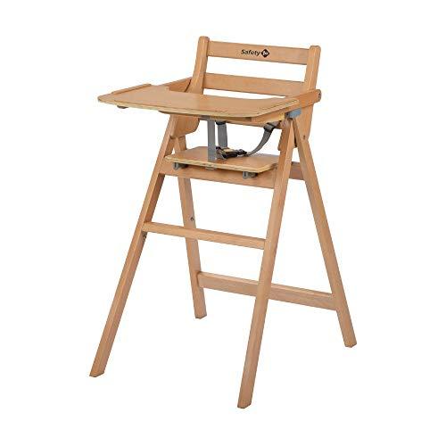 Safety 1st Hochstuhl Nordik, klappbarer Babyhochstuhl aus Holz mit großem Sitz, nutzbar ab ca. 6 Monate bis 3 Jahre (max. 15 kg), Natural