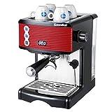 TETHYSUN Taza de café Semi-Automática Máquina de Espresso Casero, vapor que hace espuma portátil 1450 vatios 1.7 litros Negro