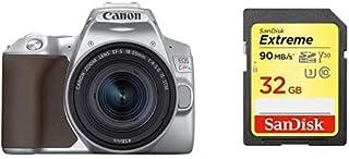 Canon キヤノン デジタル一眼レフカメラ EOS Kiss X10シルバー・EF-S18-55 IS STM レンズキット KISSX10SL-1855ISSTMLK-A + Sandisk SDカードセット