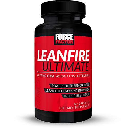 Force Factor LeanFire Ultimate Thermogenic with Capsimax, Added Energy, Focus, Concentration, Appetite Control for Weight Loss, 60 Count