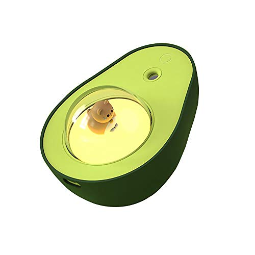 SHANGSKY Humidifiers with Night Light USB, Avocado Humidifier, Cat Crystal Ball Night Light, Bedroom Humidifiers for Kids, 210ml, Home Decoration, Cute Birthday Gifts for Boys and Girls New Year