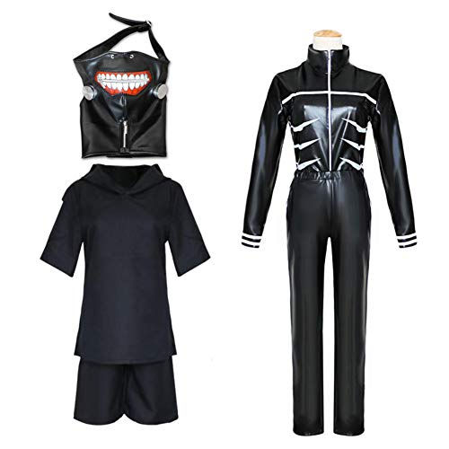 LCHENX-Anime Tokyo Ghoul Cosplay Ken Kaneki Traje de Combate Disfraz de Fiesta de...