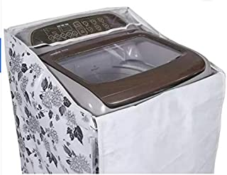 Top Load Washing Machine Cover with Zip Suitable for Samsung Back Panel 6.2 Kg, 6.5 Kg, 7.0 Kg, (Black & Grey) 55cms X 55c...