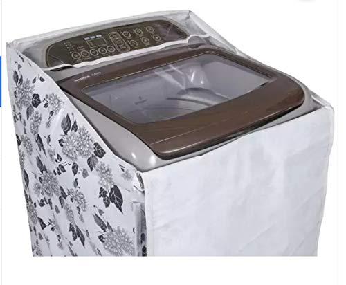 Top Load Washing Machine Cover with Zip Suitable for Samsung Back Panel 6.2 Kg, 6.5 Kg, 7.0 Kg, 7.2 Kg, 7.5 Kg (Black & Grey) 55cms X 55cms X 92cms)