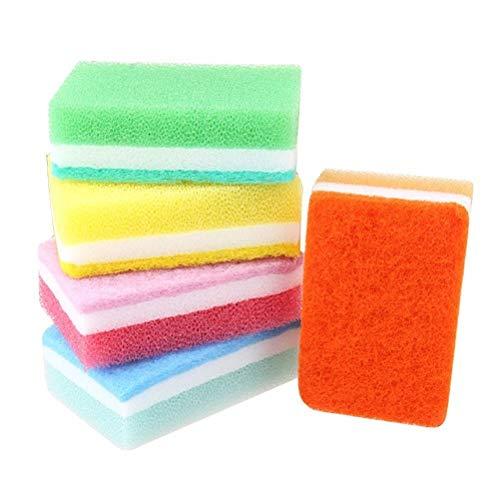 Spons 5 stks Multifunctionele Keuken Sponge Blok voor het wassen Gerechten Schoonmaken Sponge Vaatwasreiniger voor Keuken Schoonmaak Sponzen Cleaner Doek Scourers