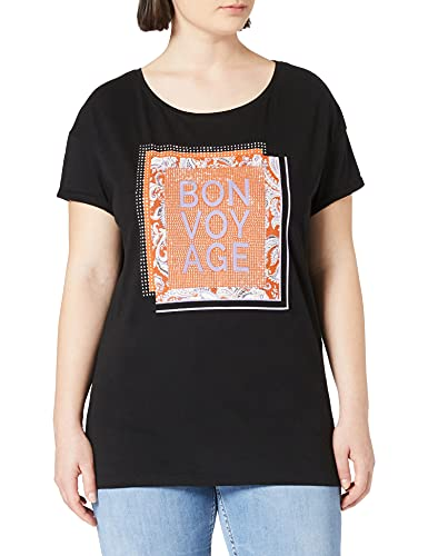 Street One 316116 T-Shirt, Black, 40 para Mujer