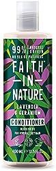 Faith In Nature Natural Lavender and Geranium Conditioner, Nourishing, Vegan and Cruelty Free, No SL