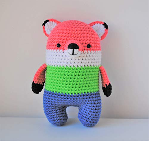 Renard peluche 18cm crocheté main Amigurumi Marshmallow Toys