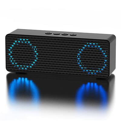 Black Wireless Bluetooth Speaker Subwoofer Home Portable Car Colorful Light Bluetooth Receiver Audio