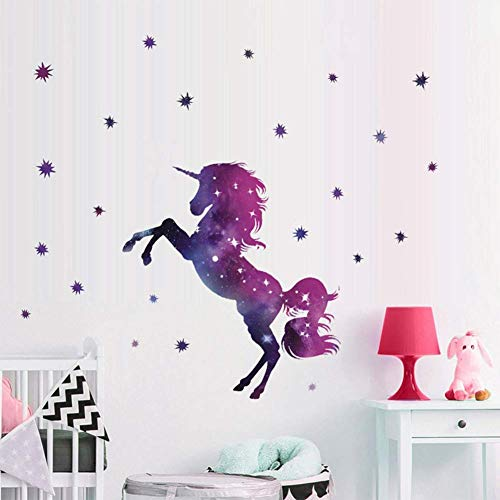 Bamsod Dream Unicorn Wall Stickers Kids Wall Decals Art for Girls Boys Bedroom,Home Decor 14''x23.6''