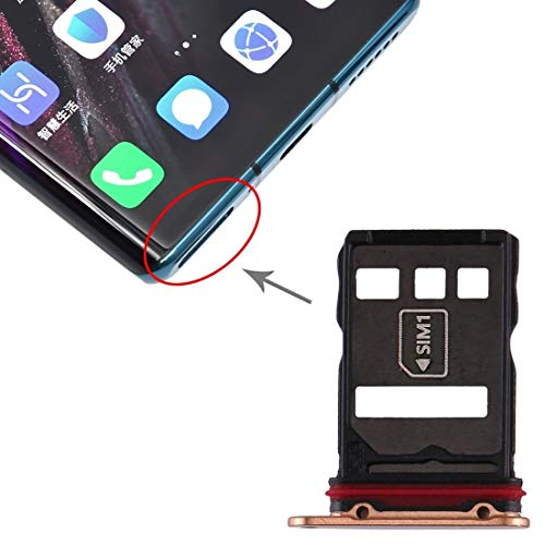 un known Teléfono móvil reemplazable Tarjeta SIM Tray + NM Tarjeta Bandeja para Huawei Mate 30 Pro Accesorio Partes de máquina (Color : Gold)