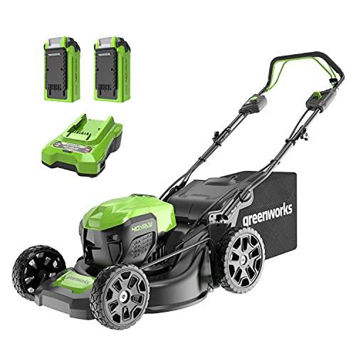 Greenworks Tools Battery-Powered Lawnmower GD40LM46SPK2x (Li-Ion 40V,...