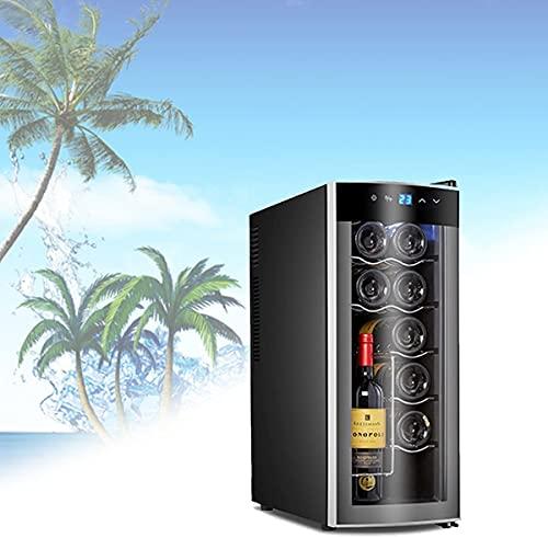 NFRMJMR Refrigerador de refrigeradores eficientes energéticos, nevera para bebidas portátiles, puede contener doce botellas de vino tinto, hidratante para el ciclo, para el hogar, el dormitorio, el co