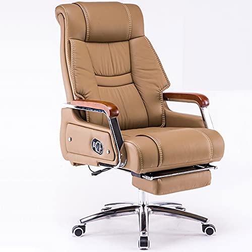 Silla de Oficina, Silla de Ordenador con Respaldo Alto para Adultos, sillón reclinable ergonómico con reposapiés, cojín Ajustable, rotación de 360 Grados/A/como se Muestra