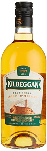 Kilbeggan Traditional Irish Whiskey, mit einem Hauch von Sherry, 40{4114c3ff178f7eff707ac78fab2bd23f52915ae8be5303cae364b94dfe2a9010} Vol, 1 x 0,7l