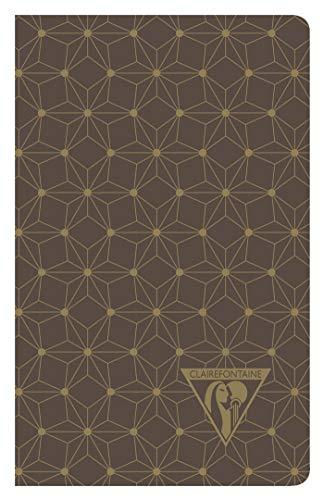 Clairefontaine 192086C Notizbuch Neo Deco Herbst Winter Kollektion, mit Fadenbindung, 7, 5 x 12 cm, 24 Blatt, elfenbeinfarbenes Papier, 90g, liniert, 1 Stück, zufällig...