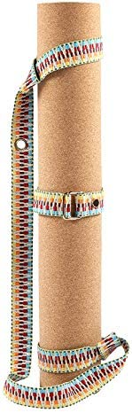 Non Slip Yoga Mat Natural Cork and Rubber Pilates Fitness Mat with NMEPLAD Yoga Belt and Strap product image