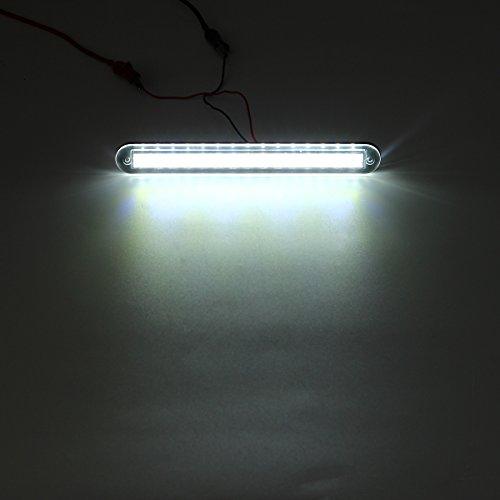 MASUNN 3W 12V 55LM 3200K Blanc/Bleu Conduit Couloir lumière lampadaire imperméable à l'eau pour Yacht Boat-Blanc