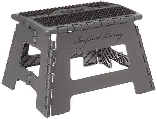 Inspired Living Step Heavy Duty foldingstools 9quot High DARK GREY