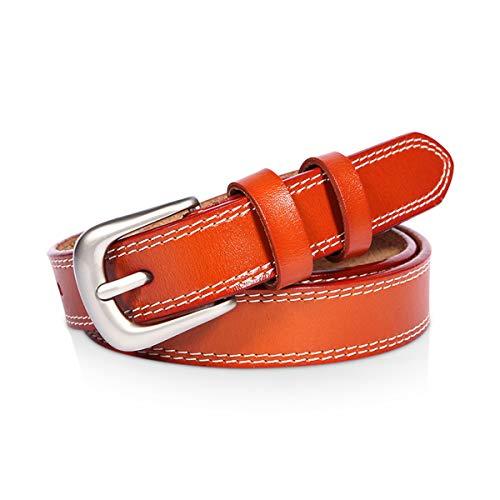 DORRISO Elegante Mujer Cinturón de Piel vacuno Para Mujeres Con la hebilla del Pin de la Aleación Ocio Viajar Cinturón 105 110 115CM