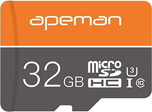 APEMAN SDXC 32 GB Schnelle Geschwindigkeit Micro SD-Karte, TF-Karte für Dash-Cam, Klasse 10