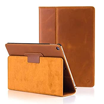 CASEMADE iPad 9.7 inch Real Leather Case  5th/6th Generation 2017/2018  - Premium Luxury Italian Slim Cover/Smart Folio with Dual Stand and Auto Sleep/Wake  Tan
