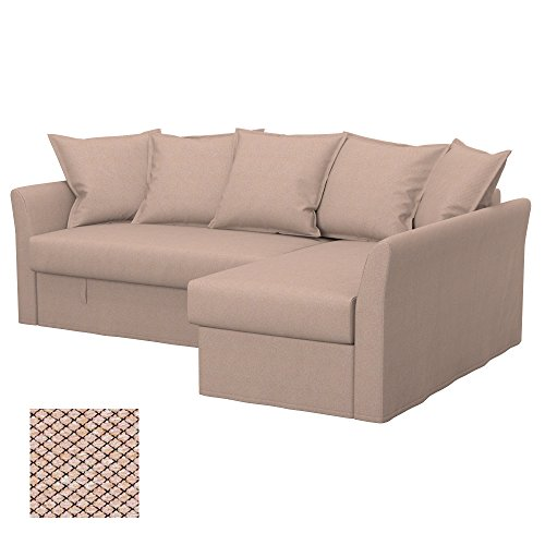 Soferia - IKEA HOLMSUND Funda para sofá Esquina, Nordic Beige