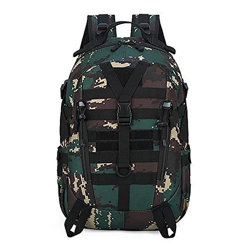 NWJHB Outdoor camouflage hiking backpack Multifunctional tactical bag Large capacity backpack-Lu Camouflage